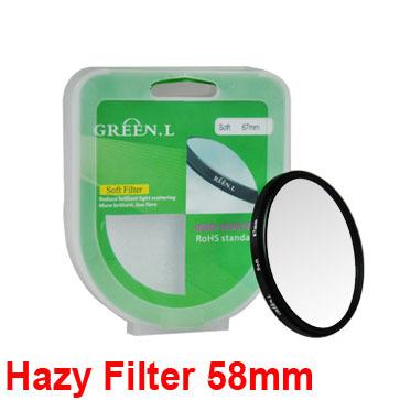 Фильтр для фотокамеры Green 58 60d 70d 550d 600d 650d 700d 1100d efs 18/55 50 f/1.4 USM Hazy Filter tie neck ruffle trim two tone striped romper