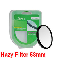 Green Camera Lens Filter 58mm Hazy Soft Focus Filter for 60d 70d 550d 600d 650d 700d 1100d efs 18-55mm 50mm f/1.4 USM