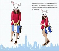 Cartoons bag 3d shoulder messenger canvas fashion bag 3d women shoulder 3d handbag women