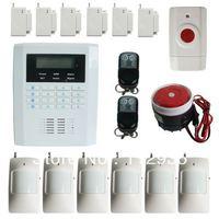 101 zones GSM PSTN security home alarm system with  pir sensor panic button