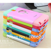 Double Layer Spigen ID Card Holder & Ring Back Stand Case For Samsung Galaxy Note 3 N9000 100pcs/lot DHL Free Shipping