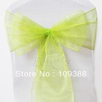 Apple Green Wedding Party Organza Sheer Chair Sashes