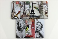 2013 newest Retro fashion  eiffel tower Marilyn Monroe cute  hard plastic cover case for apple iphone 5 5s,free shipping