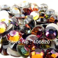 SUPER SHINY 2028 RAINBOW Flat Back Crystals Stones Nail Art Non Hotfix Rhinestones.SS4 SS5 SS6 SS8 SS10 SS12 SS16 SS20 SS30
