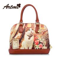Artmi2013 shoulder bag fashion bag shell cat vintage portable women's handbag large high quality totes bag