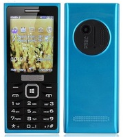 N1020 Dual SIM Card Dual Band Phone 2.4 Inch Single Camera Bluetooth FM Torch- Blue