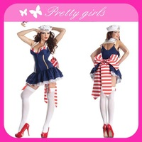 Free Shipping and Accept Drop Shipping New Style Halloween Women Sexy Sailor Costume