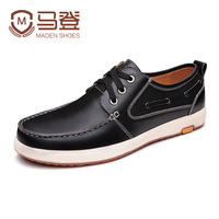Madden 2013 autumn and winter shoes genuine leather casual skateboarding shoes leather shoes male low-top shoes genuine leather