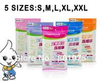 5Size 200pcs/lot Vacuum Storage Bag Vacuum Compressed Bag Vacuum space saving compressed bag organizer 50*70 60*80 70*100 80*110