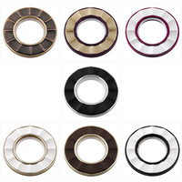 Top grade 7 colors Art circles large roman rings Nano mute curtain rings hole-digging buckle grommets eyelets for curtains