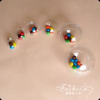 Free shippingball 5cm clear plastic ,transparent christmas ball XMAS decoration ball christmas decoration supplies wholesale