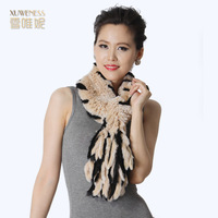 Tassel rectangle scarf Women fashion muffler scarf rex rabbit hair fur scarf