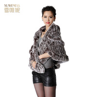 Women's autumn and winter rex rabbit cape top rex rabbit 2013 fur coat fur thermal top