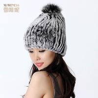 2013 rex rabbit hair fur hat female winter dome women's fur hat