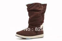 Free shipping 2013 winter fashion new4-color non-slip comfortable and warm snow boots for women big small size36-39
