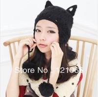 Free shipping New Arrival Women Hat Korean Style Lady Caps Winter Hats For Woman Cat ear Shape Fashion Lady's Headwear