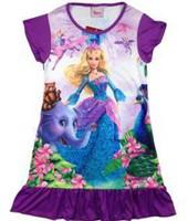2014 New girls summer Nightgowns Children girl dresses Princess & Elephant Sleepwear Robe Pajamas Dress 100% Polyester 4pcs/lot