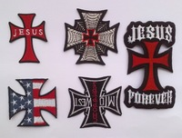 Mixed Latin Cross n iron on patches Wholesale Logo  Embroidered patch iron on Motif Cartoon Applique  100pcs/lot wholesale