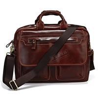 New arrival cowhide male commercial messenger bag shoulder bag computer briefcase handbag 7085x