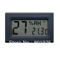 500pcs/lot  New Wireless Mini Digital Thermometer Hygrometer - Cabinet Cigar Hygrometer Thermometer