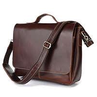Genuine leather man bag big handbag messenger bag laptop 7108r 15