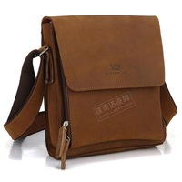 Casual street lather-bag quality crazy horse leather small messenger bag shoulder bag 7055