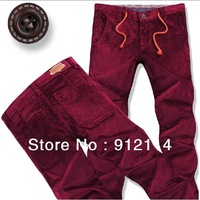 2013 new arrival  Business and leisure casual slim pants for men,mens Large size washed pants ,red and black,size 28-46,982