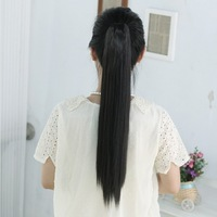 Ponytail wig straight hair claw clip horseshoers girls long ponytail wig piece straight hair horseshoers