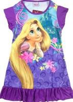 Free Shipping 2014 New girls Nightgowns Children girl dresses Rapunzel Sleepwear Robe dis* Pajamas Dress 100% Polyester 4pcs/lot