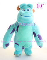 12pcs 10'' 25.5cm Monster Inc,Sullivan , lovely plush toys,Monsters University plush toy valentine's day gift,Free shipping