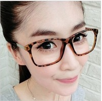 Hot sell Free shipping Lowest price Frame plain mirror big frame glasses vintage myopia glasses frame b040  5pcs/lot