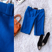 women clothing 1008 women's solid color all-match wool casual pants k39228 2