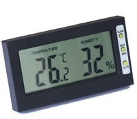 Freeshipping! 100pcs/lot Brand New Mini Digital LCD ROOM Thermometer temperature Hygrometer for pet