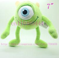 6pcs 7''  18 cm Monster Inc,Mike Wazowski  , lovely plush toys,Monsters University plush toy valentine's day gift,Free shipping