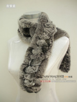 Fur scarf rex rabbit scarf rex rabbit parallel-chord long scarf rabbit fur scarf  HY