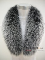 Large fox fur collar female fox fur cashmere overcoat real fur collar large fur collar down coat luxury  HY