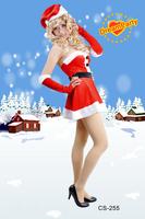 Dume Christmas gold velvet clothing set sexy performance wear christmas women's cs-255  hot sale