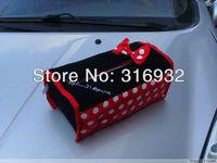 U4  Free shipping Auto Car Mickey Minnie  Mouse Tissue Case Cover  Napkin Holder