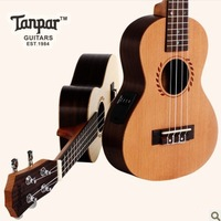 Handmade tanpar 23 pine monoboard electric box ukulele strings small guitar free shipping musical instrument custom guitar