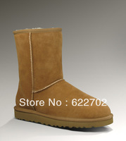 Free shipping 5825 Sheepskin winter boots 100% Wool inside Real fur lady women's Snow Boots
