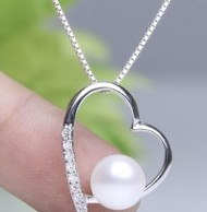 Free shipping 9MM Button Round Pearl Pendant Gift Birhday Gifts Women Elegant