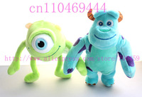 12pcs Monster Inc,Mike Wazowski Sullivan , lovely plush toys,Monsters University plush toy valentine's day gift,Free shipping