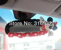 U2 Plush Fiber Mickey Minnie car rearview mirror elastic cover, 1pc