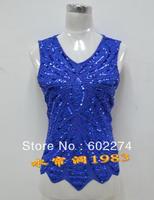 Summer beaded lace basic shirt plus size clothing spaghetti strap paillette vest top