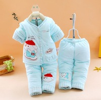 new 2013 winter  Baby cartoon cotton 3 pcs  (1clothes +2 pants)newborn wear  clothing sets outfits toddler cheap wholesale