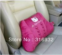 U1 High quality super soft plush kitty cat  massage cushion waist  cushion rest  pillow ,1pc