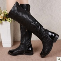 Free shipping 2013 Women's Boots,2013 Autumn New fashion ladies sexy Knee high boots,high-leg zipper long boots,Big size 35-40