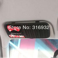 U2 Black and red design Mickey Minnie mouse Car Visor CD DVD Disk Card Case Holder Clipper Bag