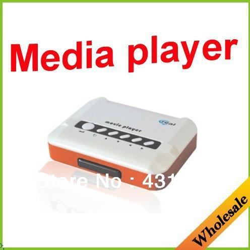 Wholesale free shipping useful high-end fashion multi-function real media player,rm/rmvb/real movie player,AV media hd player.(China (Mainland))