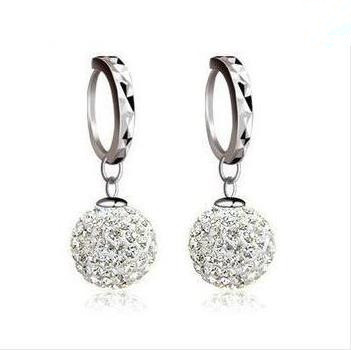 free shipping 925 pure silver stud earring full rhinestone ear buckle earrings fashion earring anti-allergic(China (Mainland))